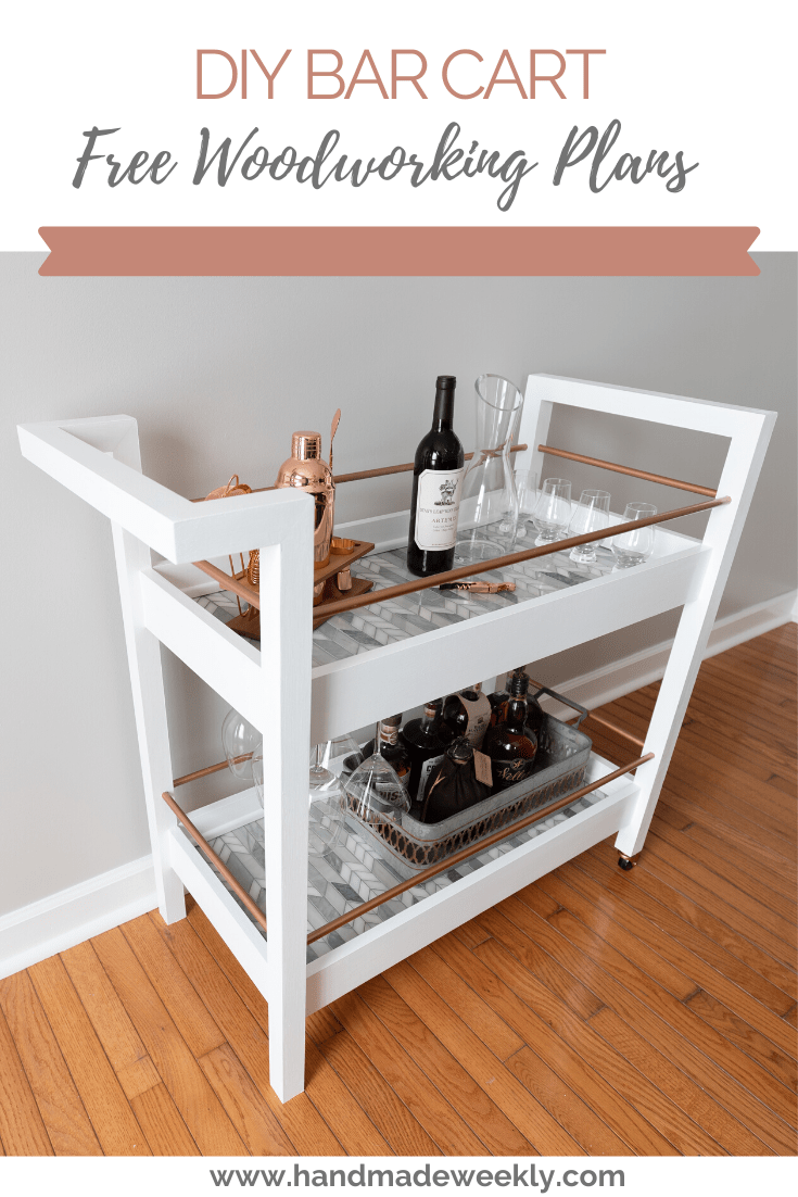 DIY Bar cart free woodworking plans