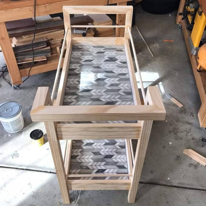 DIY Bar cart woodworking build plans free