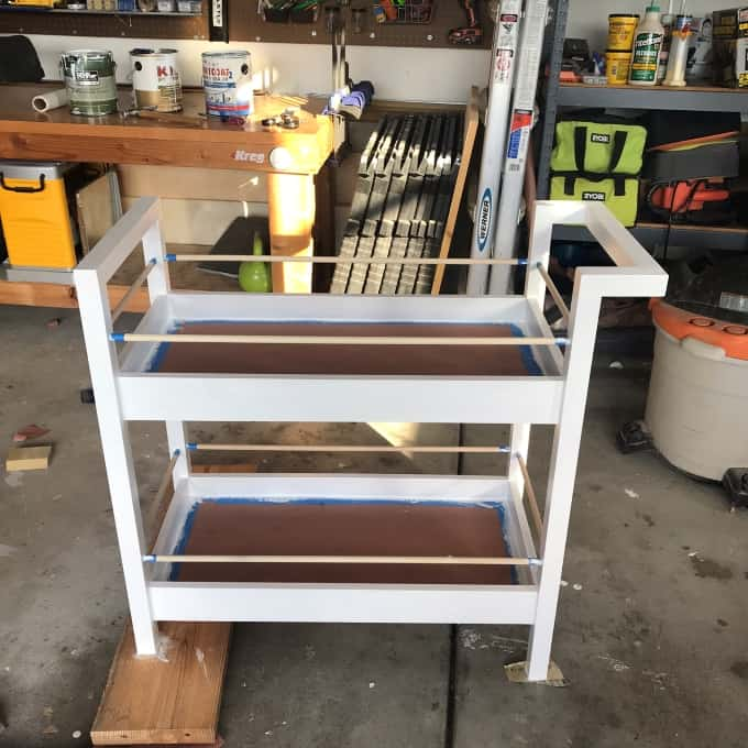 DIY Bar cart woodworking build plans free