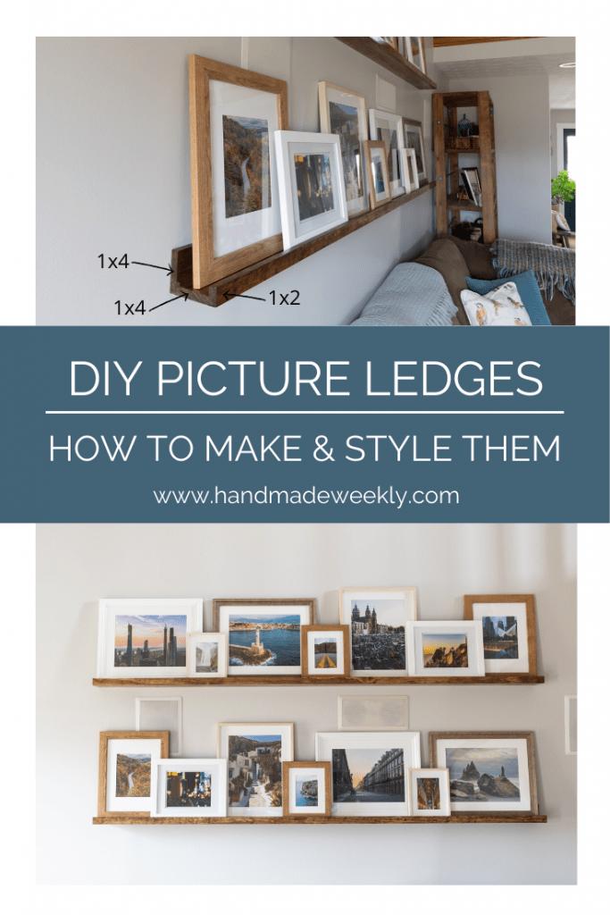 DIY Picture Ledges