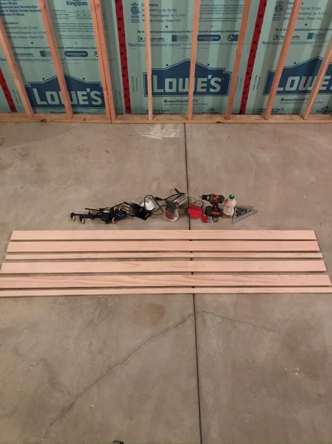 DIY picture ledge