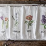 DIY Spring Flour Sack Towels with free floral printables