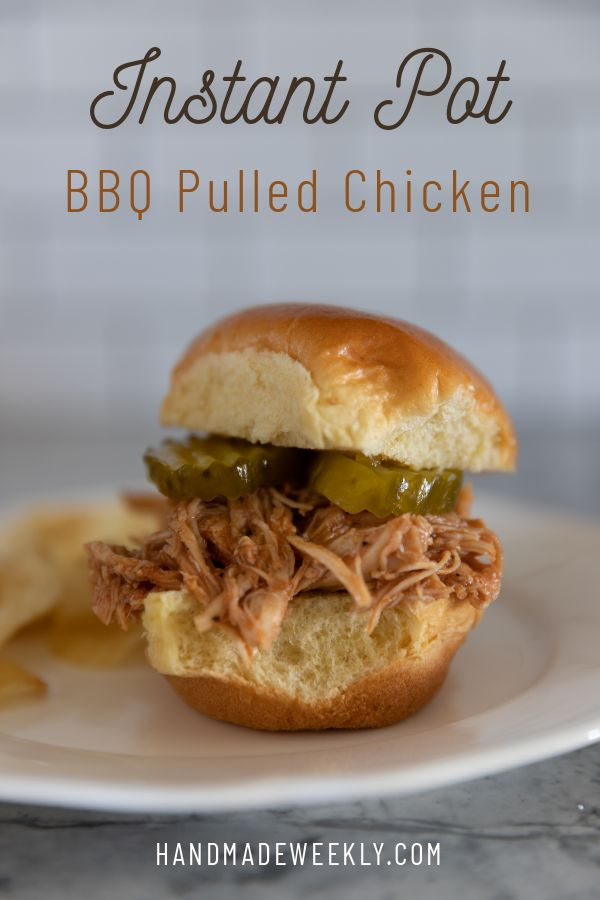 Instant pot barbeque pulled chicken