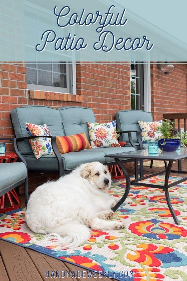 Colorful patio decor ideas