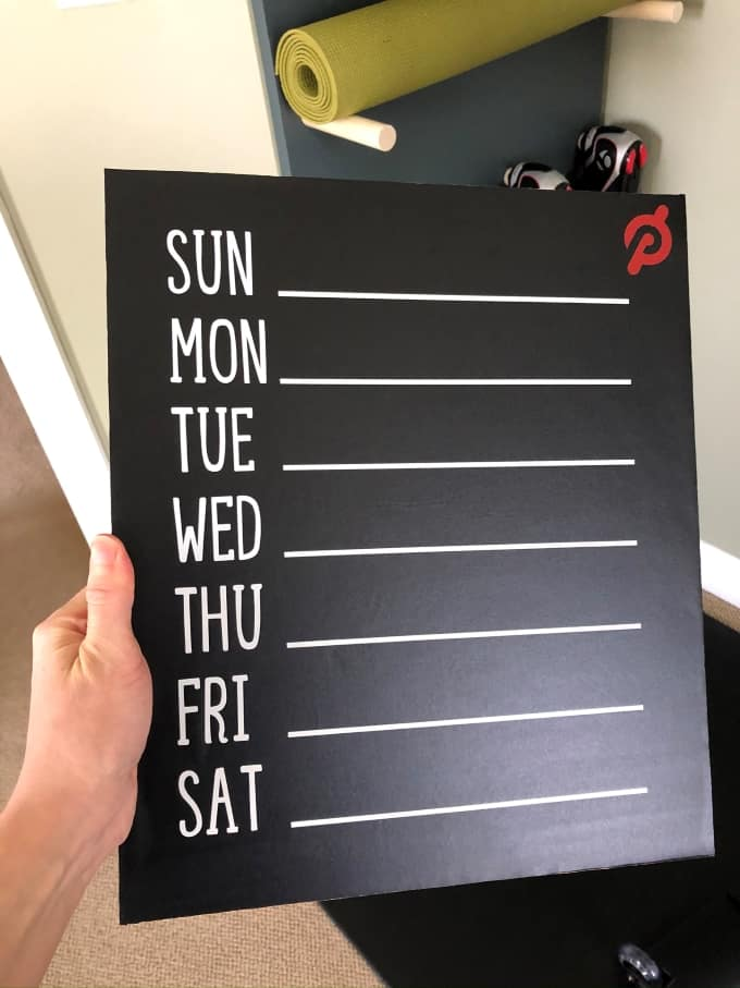 DIY Pegboard calendar