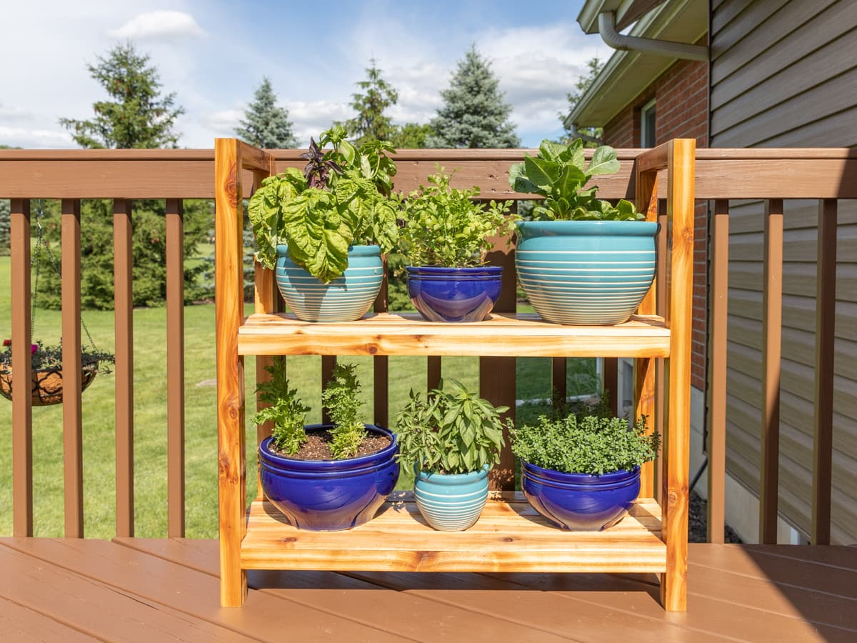 Diy Outdoor Plant Stand Handmade Weekly