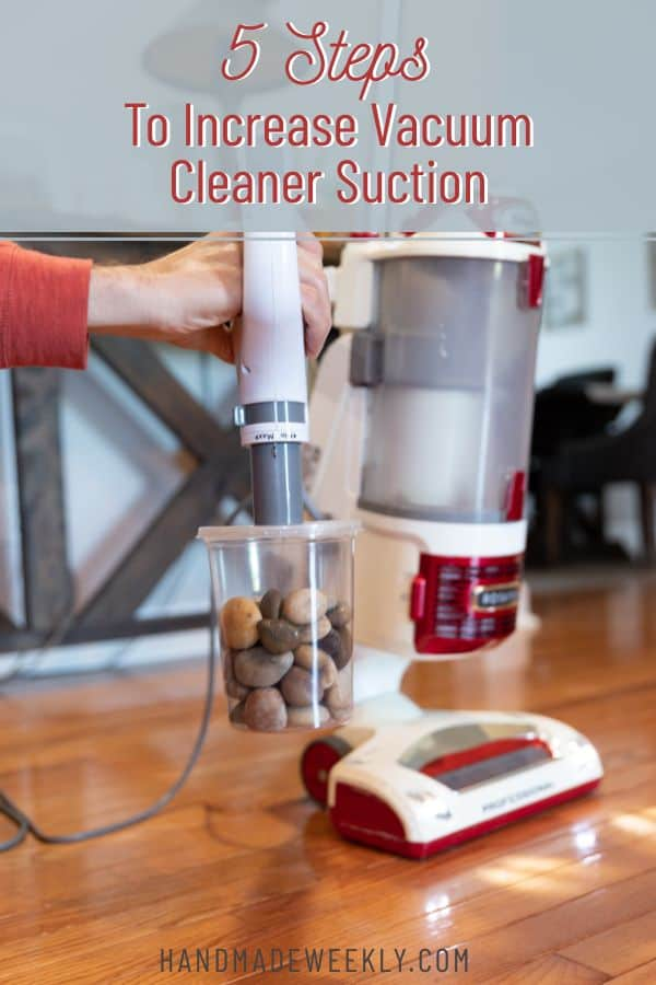 How to increase vacuum cleaner suction