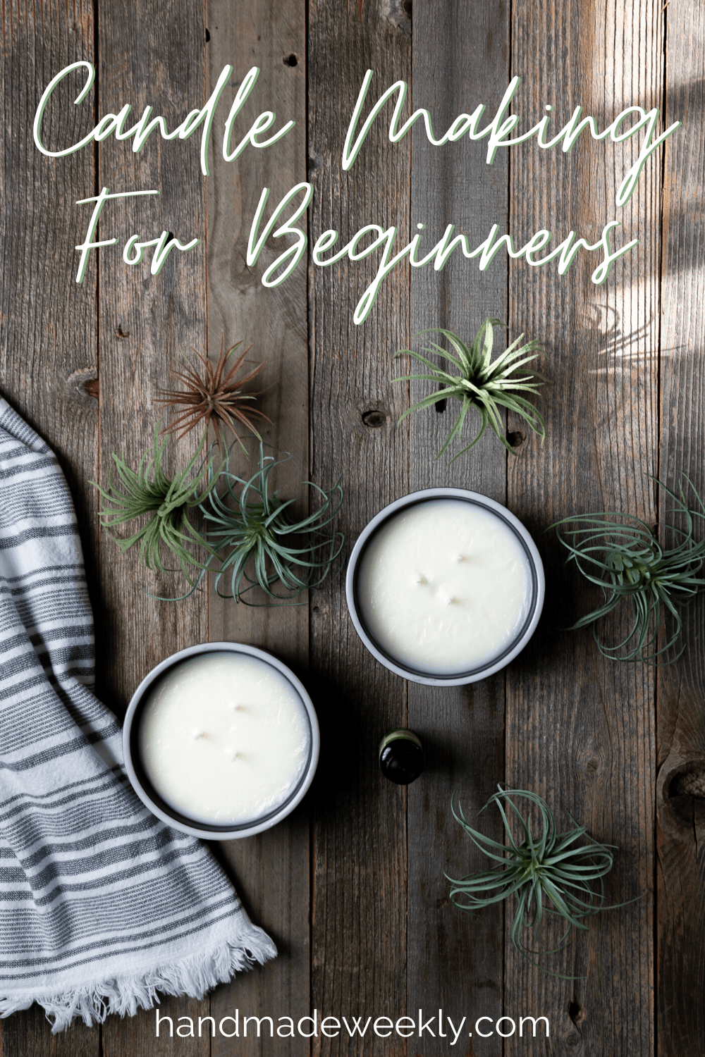 Detailed but simple tutorial on soy candle making for beginners. No experience needed to make healthy non toxic candles at home. #candlemaking #homemadecandles #candlemakingforbegineers #diycandles #handmadecandles #organiccandles #healthycandles