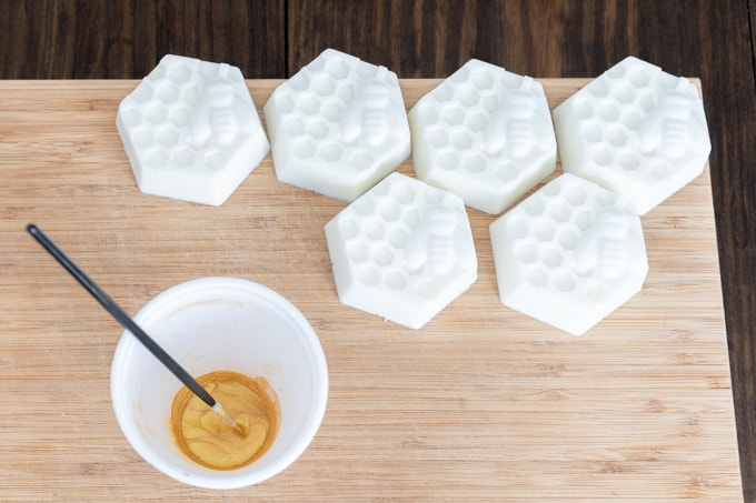 DIY Painted soap bars