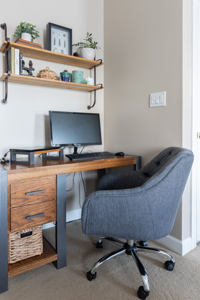 Industrial home office decor 2