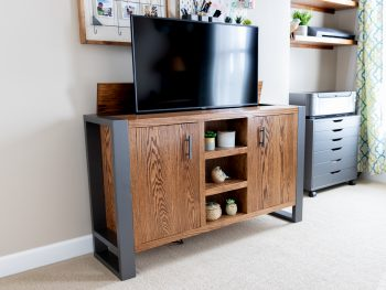 DIY TV Stand With Hidden TV Lift
