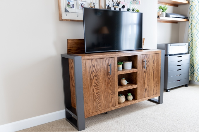 Diy Tv Stand With Handmade, Tv Lift Furniture