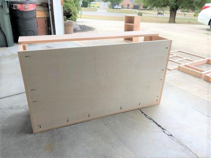 DIY TV Stand With Hidden TV Lift