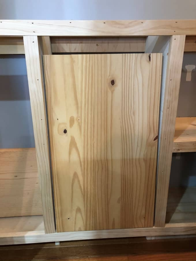 DIY Tilt out cabinet for trash, recycling laundry