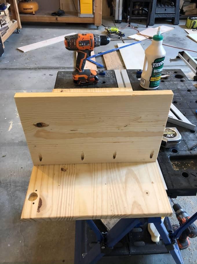 DIY Tilt out cabinet