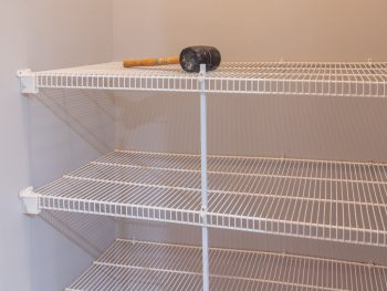 How to remove wire shelves
