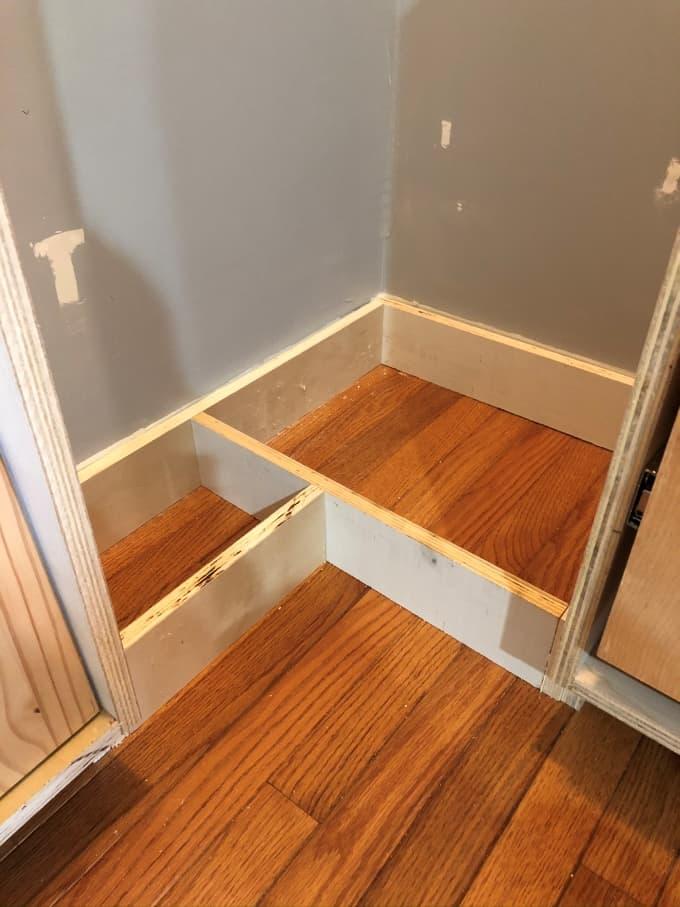 DIY Custom pantry build process