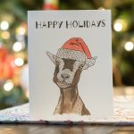 Free Happy holidays printable card