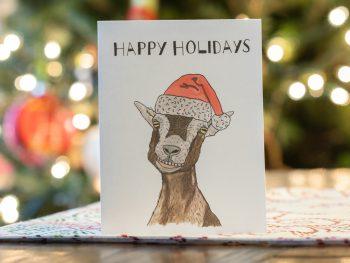 Free Happy holidays printable card