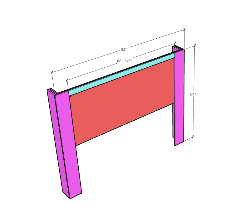 DIY upholstered wingback bed