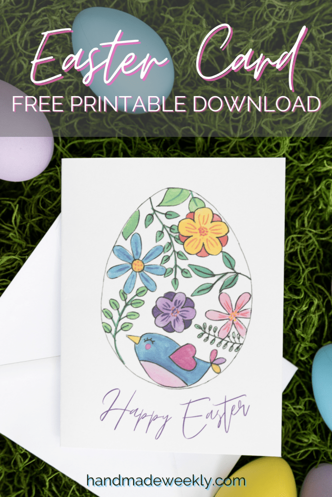 Free printable easter card download