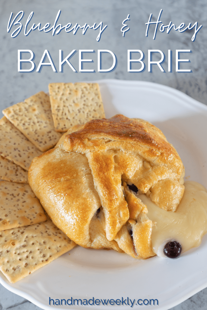 Honey and Blueberry Baked Brie