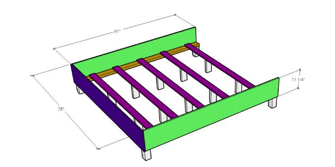 DIY upholstered bed Frame 1
