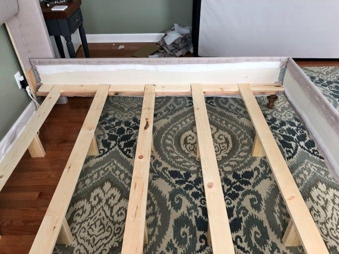 DIY upholstered bed frame 10