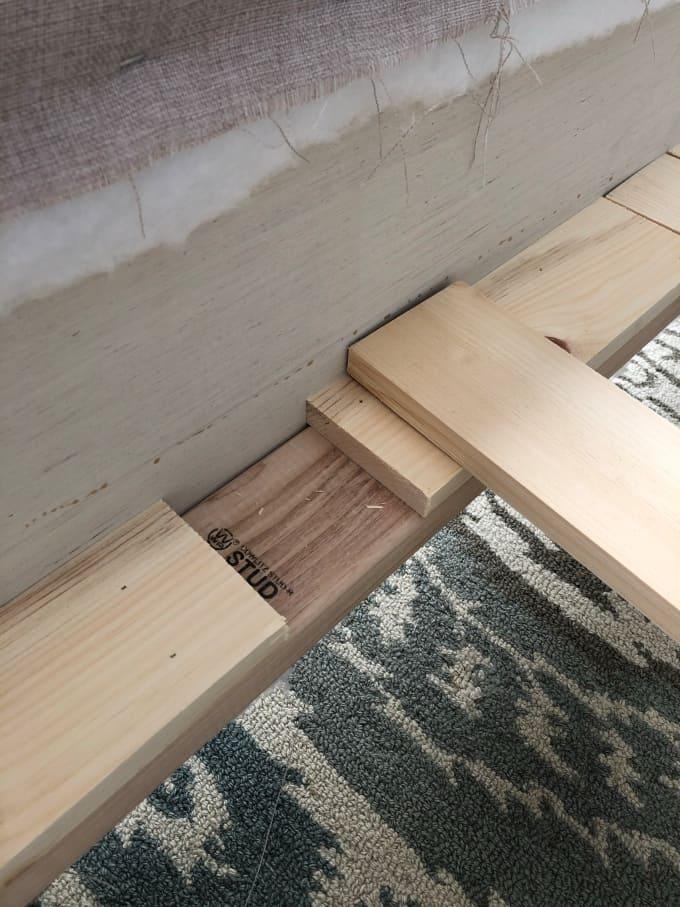 DIY upholstered bed frame 11