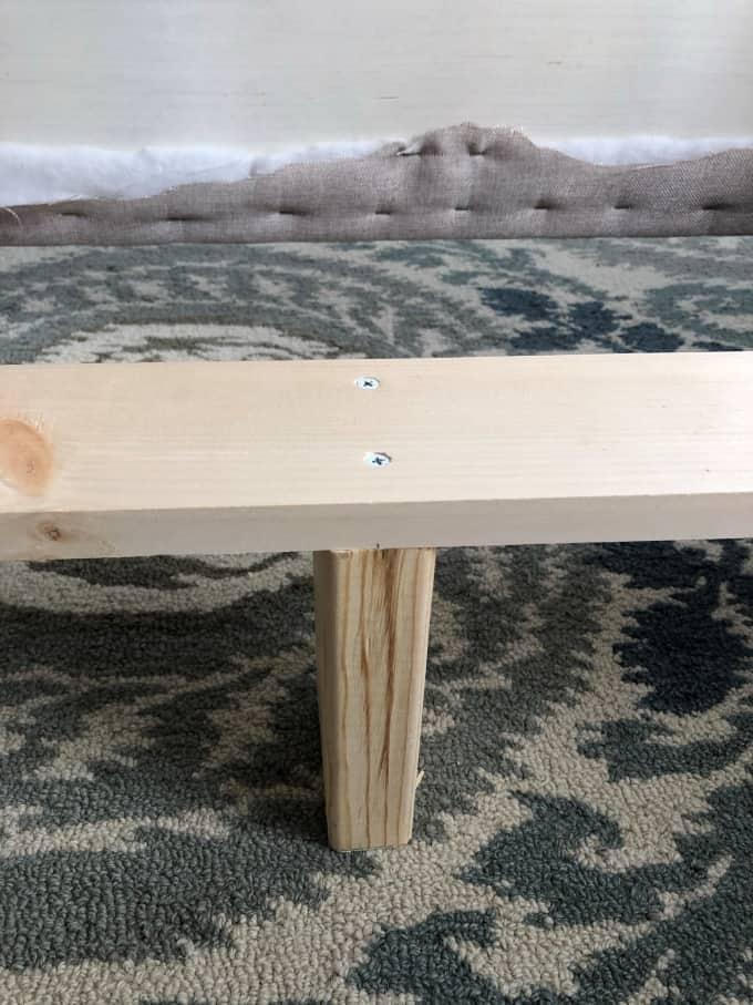 DIY upholstered bed frame 13