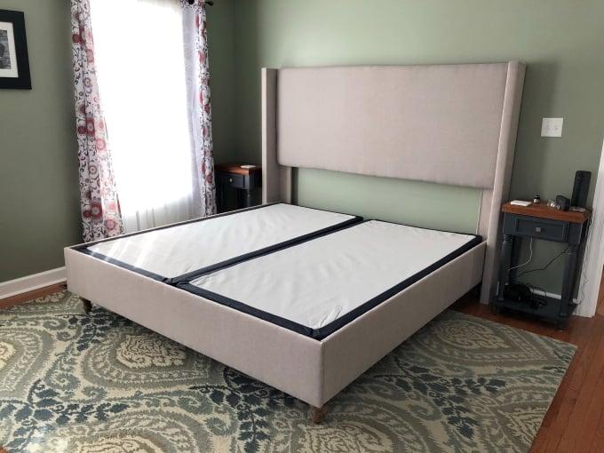 DIY upholstered bed frame 17