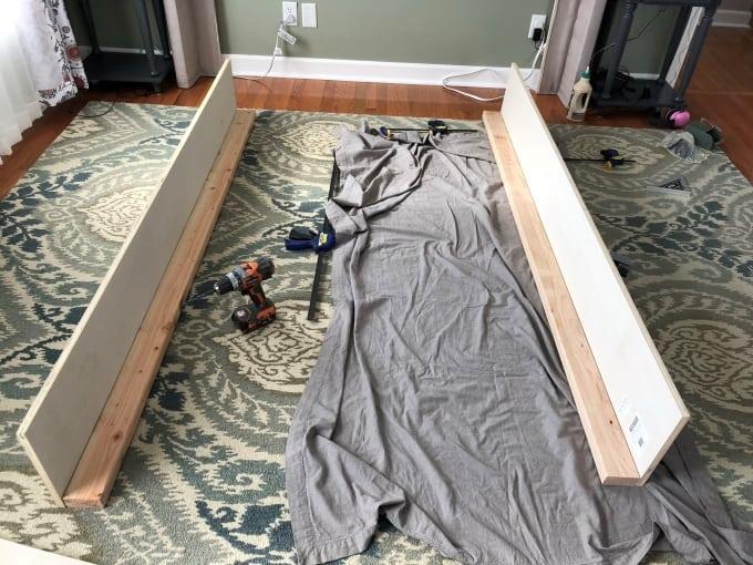 DIY upholstered bed frame 2
