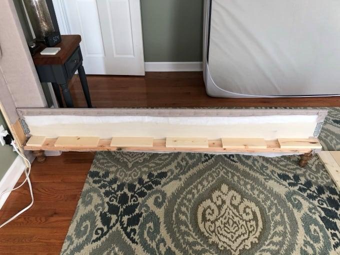 DIY upholstered bed frame 31