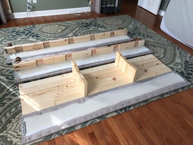 DIY upholstered bed frame 32