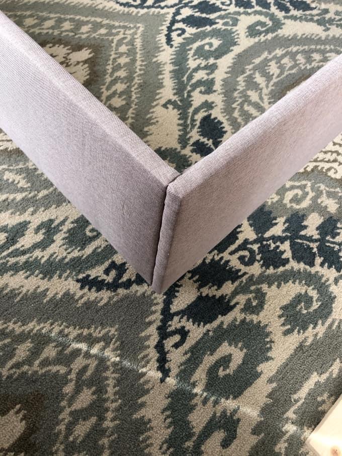DIY upholstered bed frame 37