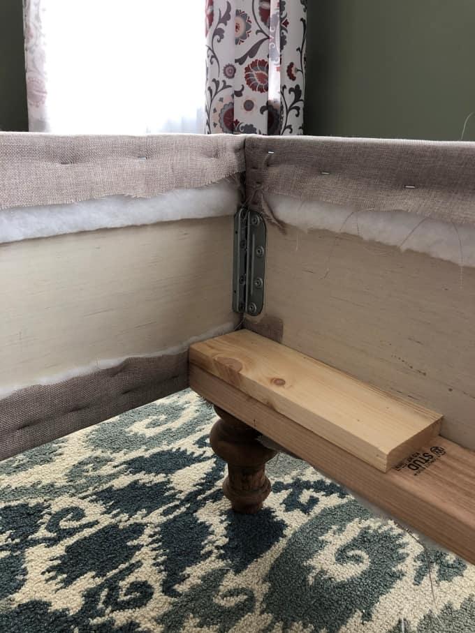 DIY upholstered bed frame 38