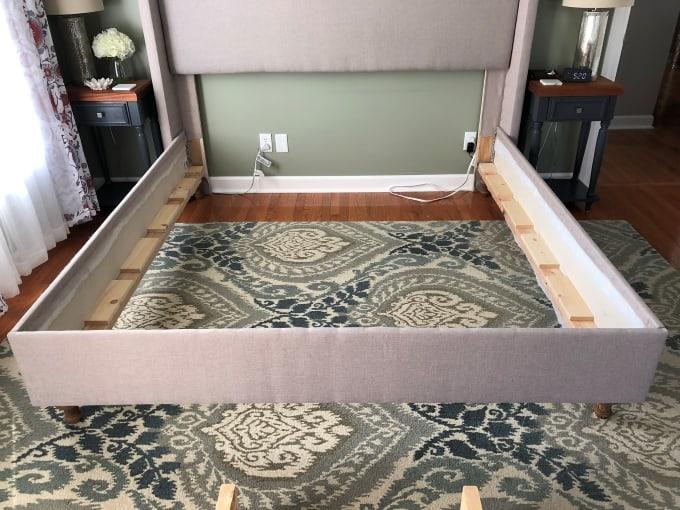 DIY upholstered bed frame 39