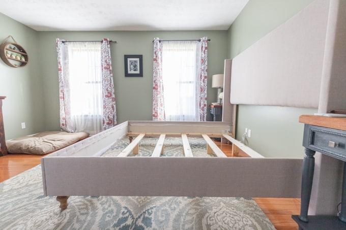 DIY upholstered bed frame