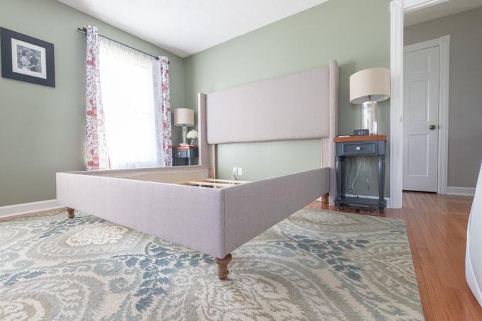 DIY upholstered bed frame 54