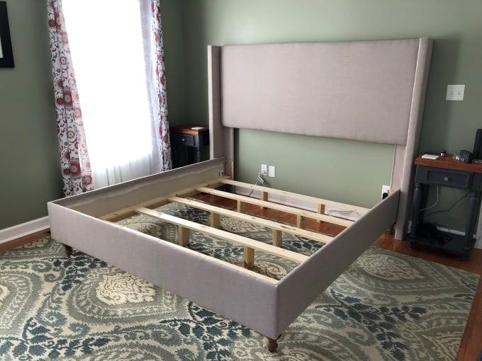 DIY upholstered bed frame 8