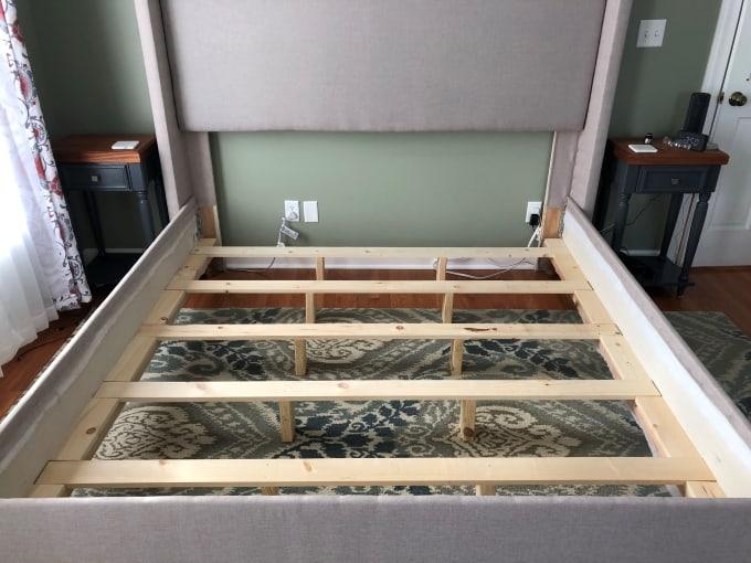 DIY upholstered bed frame 9