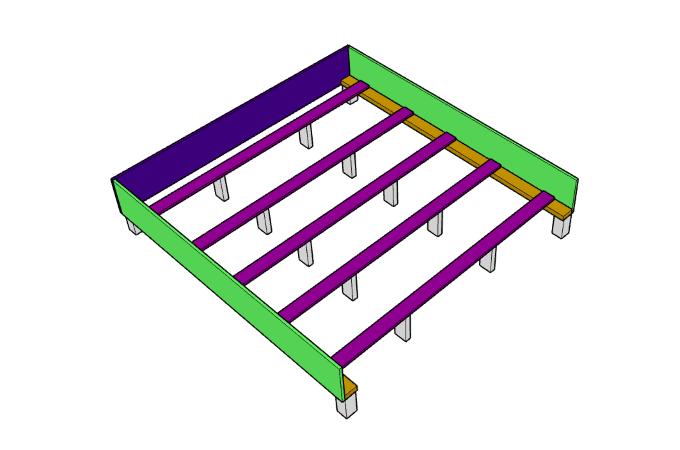 DIY upholstered bed frame Cross Braces