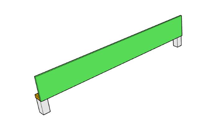 DIY upholstered bed frame Side assembly