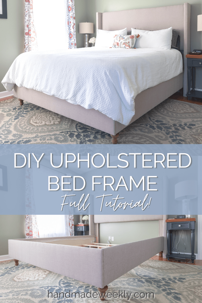 How to make a DIY upholstered Bed Frame